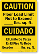 Bilingual Caution Floor Load Limit Sign