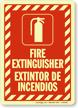 Bilingual Projecting Fire Extinguisher Door Sign