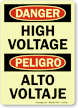 Bilingual OSHA Danger Glow Sign