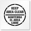 Keep Area Clean Mantenga El Area Libre Stencil