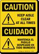 Bilingual OSHA Caution Sign