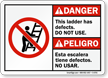 Bilingual ANSI Danger / Peligro Ladder Sign