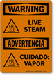Live Steam Advertencia Cuidado Vapor Sign