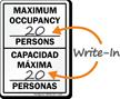 Bilingual Maximum Capacity Sign