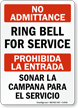 Bilingual No Admittance Sign