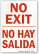 Bilingual Exit Entrance Sign