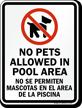 Bilingual No Pets Sign