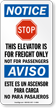 Bilingual Elevator For Freight Only No Passengers Sign