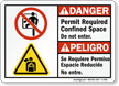 Bilingual Permit Required Confined Space ANSI Danger Sign