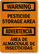 OSHA Bilingual Pesticide Area Sign