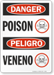 Danger Peligro Poison Sign