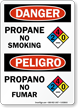 Propane No Smoking, Propano No Fumar Bilingual Sign