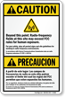 Bilingual ANSI Caution / Precaucion Sign