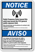 Bilingual ANSI Notice / Aviso Sign
