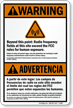 Bilingual ANSI Warning / Advertencia Sign