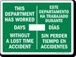 Bilingual Scoreboard Sign