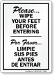 Bilingual Housekeeping Sign