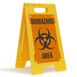 Biohazard Area Floor Standing Sign