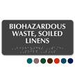 Biohazardous Waste Soiled Linens TactileTouch Braille Sign