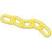 Blockade Plastic Chain Links in Yellow Color