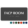 TactileTouch™ Facp Room Sign with Braille
