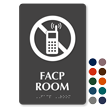 Facp Room ADA TactileTouch™ Sign with Braille