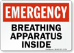 Emergency Breathing Apparatus Inside Sign