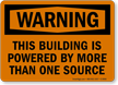 Building Powered By More Than One Source Sign