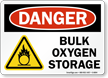 Bulk Oxygen Storage Danger Sign