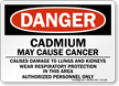 Cadmium May Cause Cancer Danger Sign