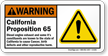 California Proposition 65 Warning Sign