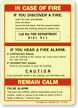 In Case Of Fire, Call Fire Department Sign