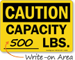 Caution Capacity Sign