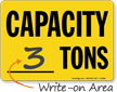 Capacity Ton Sign