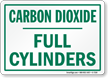 Carbon Dioxide Full Cylinders Sign