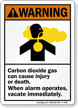 Carbon Dioxide Gas Can Cause Injury, Death Sign