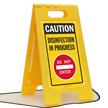 Caution Disinfection In Progress Do Not Enter Floor Sign