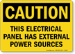 Caution Electrical Panel Sign