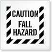 Caution, Fall Hazard Floor Stencil
