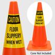 Caution Floor Slippery When Wet Cone Collar
