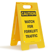 Watch for Forklift Traffic FloorBoss XL™ Floor Sign