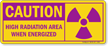 Caution Radiation Sign