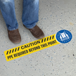 Caution PPE Required Beyond This Point Floor Sign