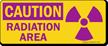 Caution Radiation Area Sign