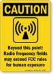 Caution Radio Frequency Sign