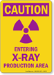 Caution X-Ray Area Sign
