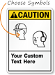 Custom ANSI Caution Sign