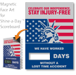 Celebrate Our Independence, Stay Injury-Free Scoreboard Face