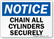 Notice Chain Cylinders Securely Sign