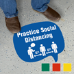Chat Bubble - Practice Social Distancing with Clipart